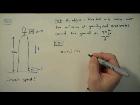 Free Fall Problems Worksheet Awesome How to solve A Free Fall Problem Simple Example