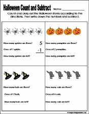 Free Fall Problems Worksheet New Halloween Count and Math On Pinterest