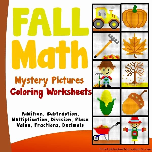 Free Fall Worksheet Answers Awesome Fall Autumn Math Coloring Worksheets Bundle Printables