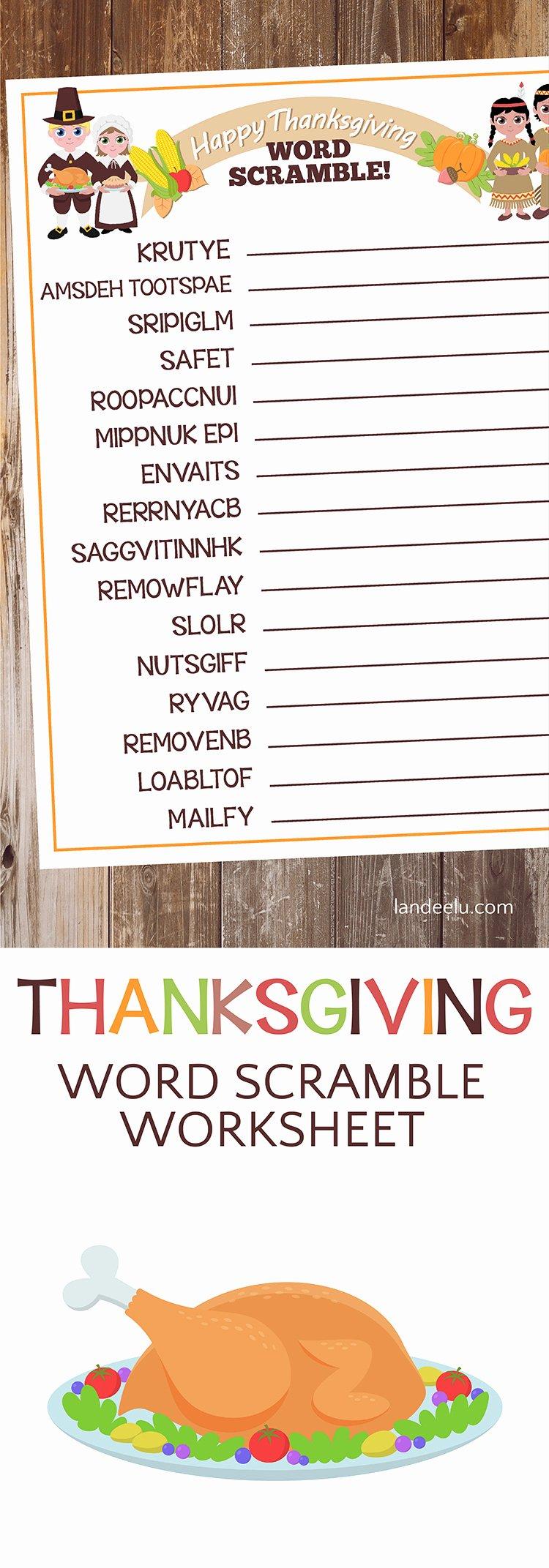 Free Fall Worksheet Answers Best Of Thanksgiving Worksheet Word Scramble Landeelu