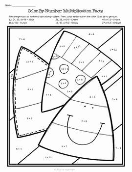 Free Fall Worksheet Answers Fresh Fall Math Color by Number Free Teaching Resources