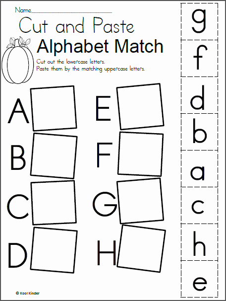 Free Fall Worksheet Answers Inspirational Alphabet Match Worksheet for Fall Madebyteachers