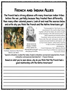 French and Indian War Worksheet Inspirational French & Indian War Facts & Worksheets for Kids Seven