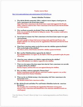 French and Indian War Worksheet Lovely Pontiac S Rebellion Worksheet French and Indian War by