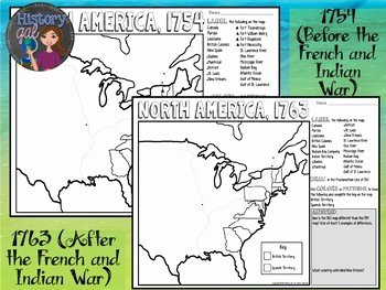 French and Indian War Worksheet New French and Indian War Map Activity by History Gal