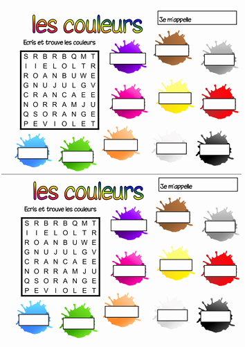 French Worksheet for Kids Inspirational French Colours Wordsearch by Geekie Teaching Resources Tes