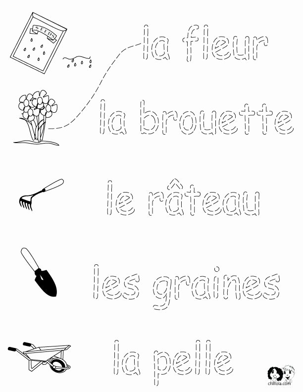 French Worksheet for Kids Inspirational French Worksheets for Kids Spring Printout French