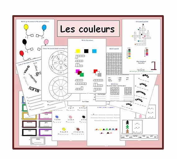 French Worksheet for Kids Lovely French Worksheets Kids Learning Sheets the Colours