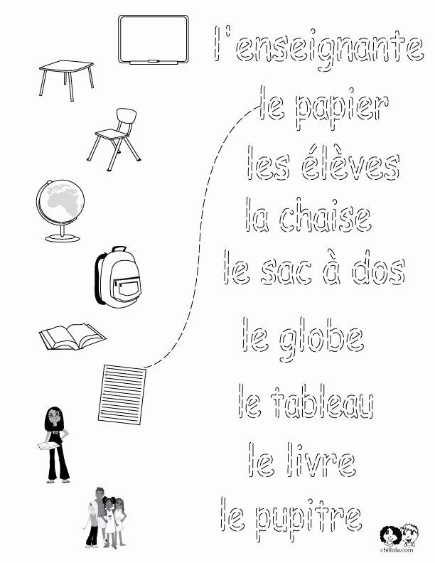 French Worksheet for Kids Unique 156 Best French Worksheets for Children Français