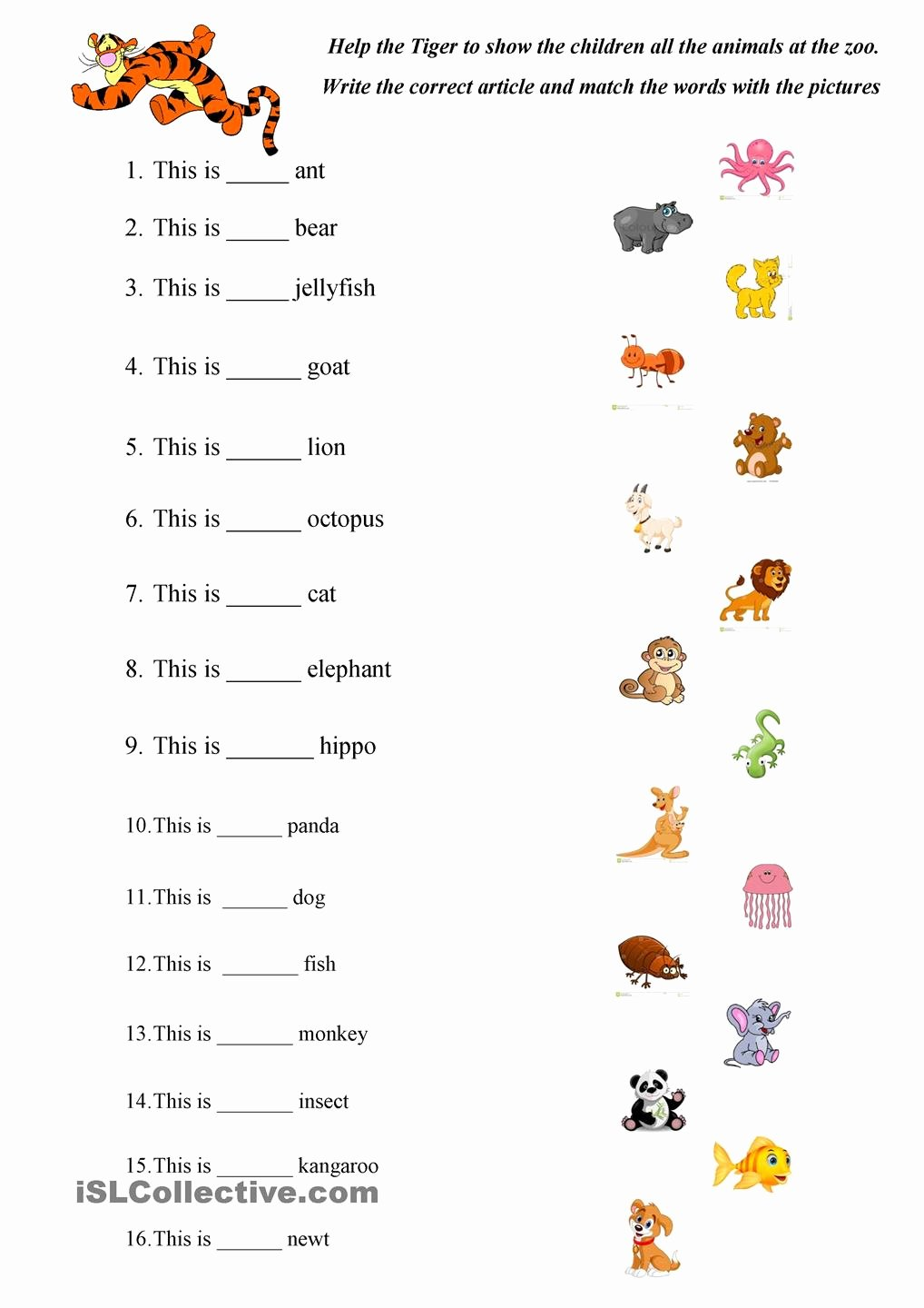 animals worksheets for kindergarten brandonbrice us worksheet english animal photo images about kids on pinterest robert de niro and martinrsese movies