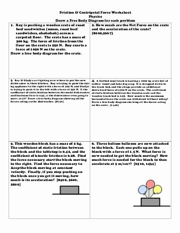 Friction and Gravity Worksheet Answers Beautiful 17 Best Of force and Friction Worksheets Elementary