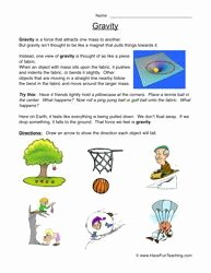 Friction and Gravity Worksheet Answers Beautiful Gravity Worksheet Falling Gravity
