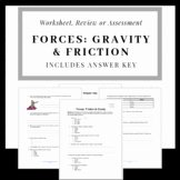Friction and Gravity Worksheet Answers Best Of Gravity Worksheet