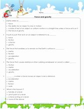 Friction and Gravity Worksheet Answers Luxury force and Motion Actvitity Games and Worksheets