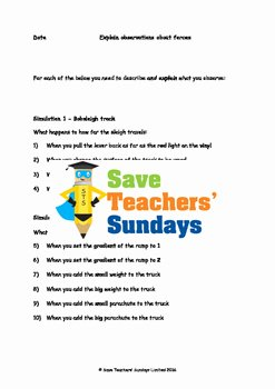 Friction and Gravity Worksheet Answers Luxury forces Friction Gravity and Air Resistance Lesson Plan