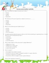 Friction and Gravity Worksheet Best Of 4th Grade Science Worksheets Pdf Printable