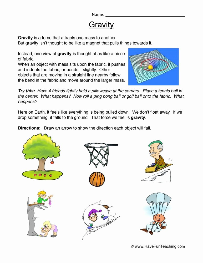 Friction and Gravity Worksheet Best Of Science Worksheets Resources
