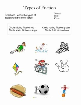 Friction and Gravity Worksheet Elegant 6th Grade Friction Worksheets Differentiated by Lauren