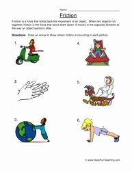 Friction and Gravity Worksheet Elegant Friction Worksheet 1 In the Classroom