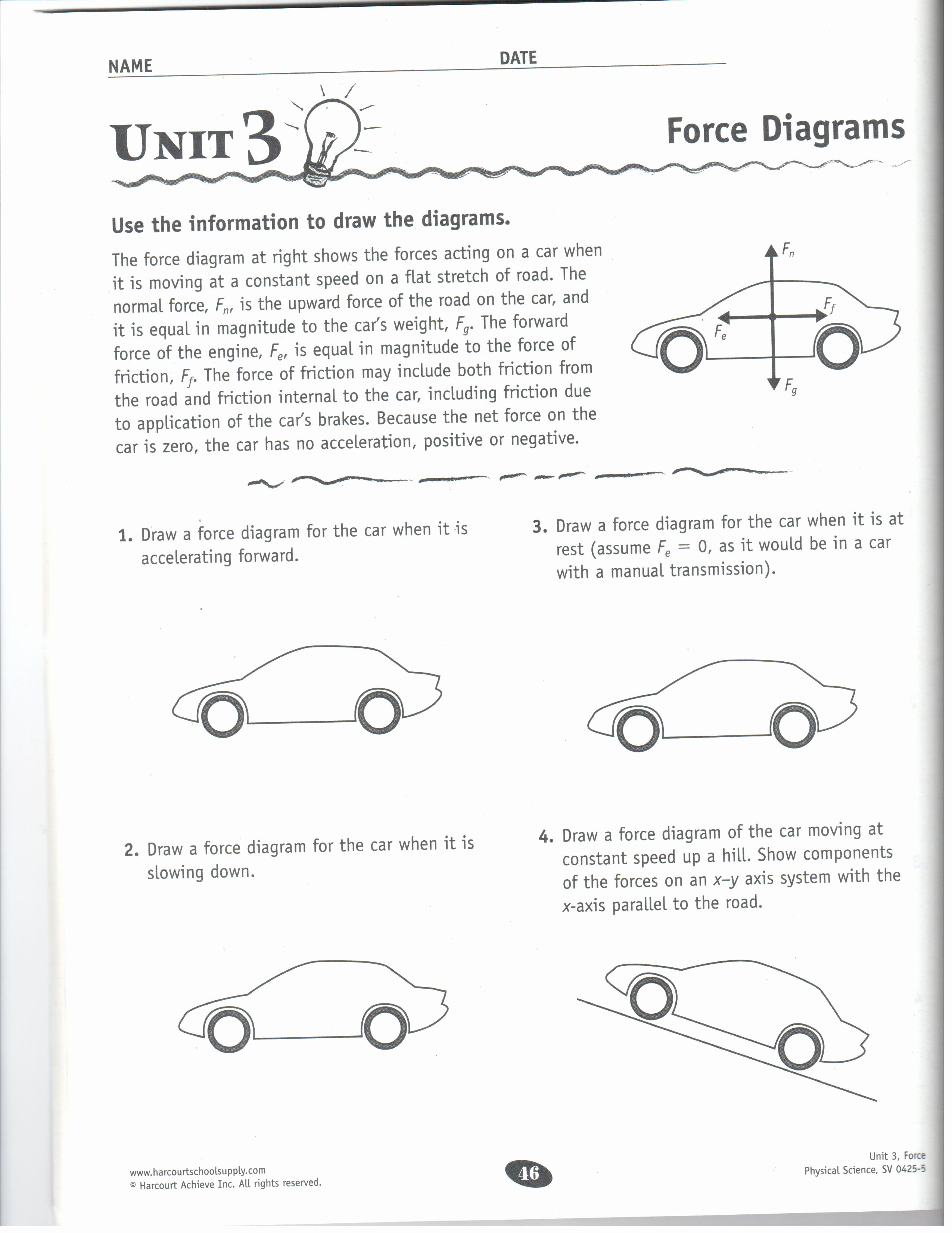 Friction and Gravity Worksheet New force Gravity Friction and Magnetism Worksheet