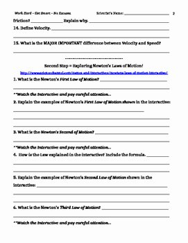 Friction and Gravity Worksheet Unique forces Webquest Gravity Friction Newton's Laws by