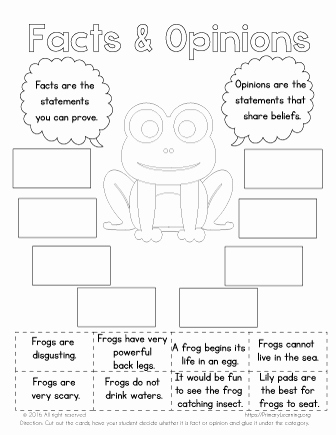 Frogs Life Cycle Worksheet Beautiful A Frog Life Cycle Facts and Opinions
