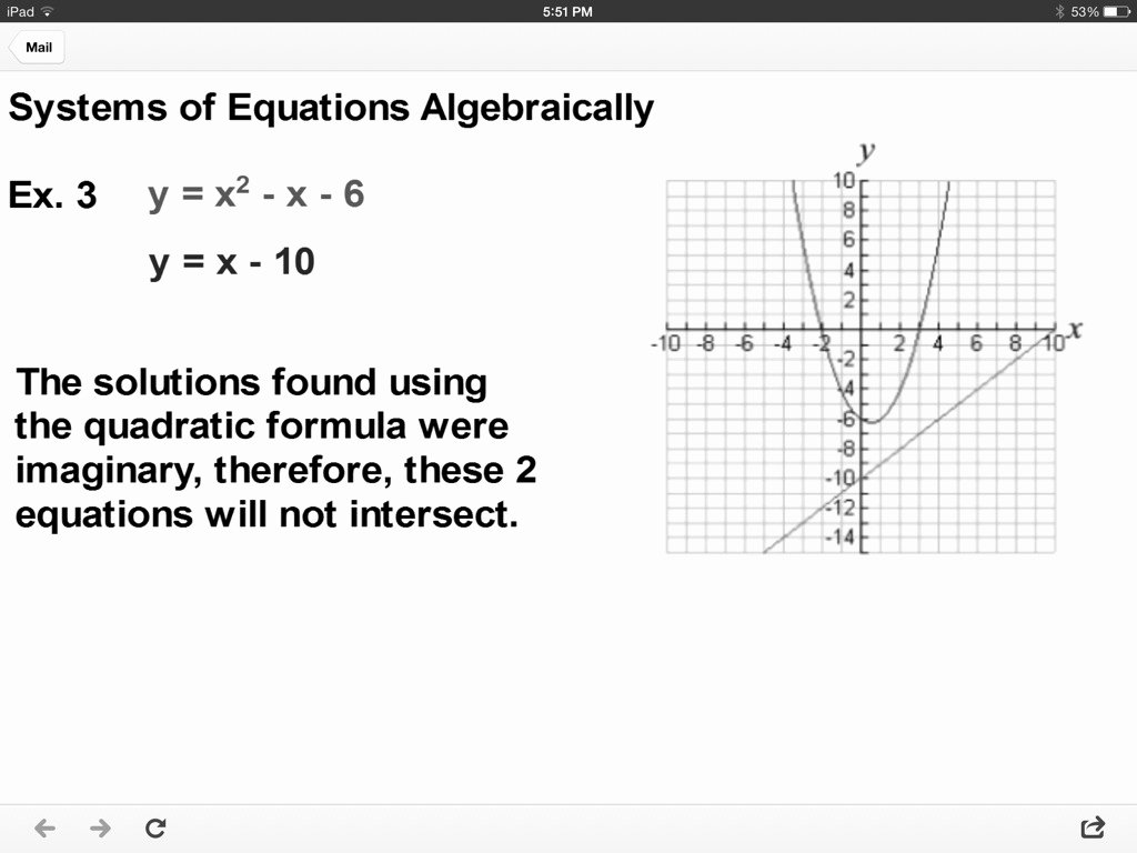 From Linear to Quadratic Worksheet Fresh Graphing Systems Quadratic and Linear Equations