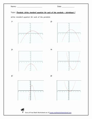 From Linear to Quadratic Worksheet Inspirational Linear Quadratic Systems Five Pack Math Worksheets Land