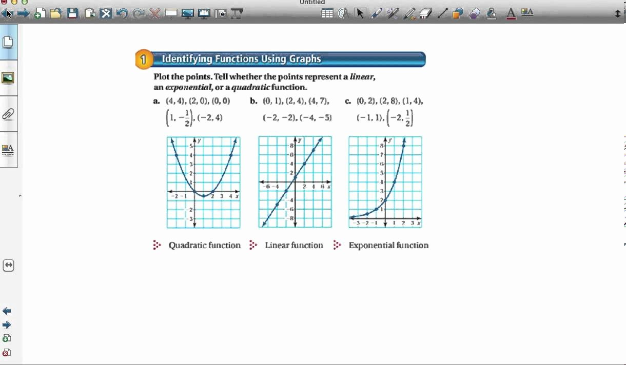 From Linear to Quadratic Worksheet Inspirational Paring Linear Exponential and Quadratic Functions