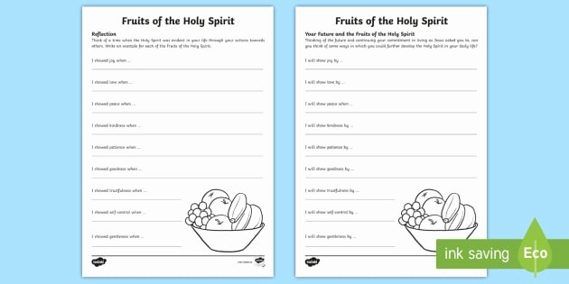 Fruits Of the Spirit Worksheet Fresh the Fruits Of the Holy Spirit Worksheets Worksheet