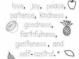 Fruits Of the Spirit Worksheet Inspirational Fruit Of the Spirit Bible Verse Worksheet Trace the