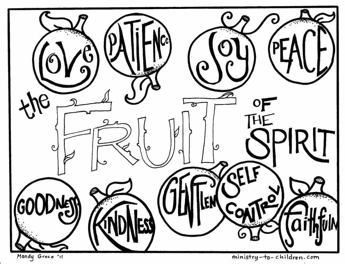 Fruits Of the Spirit Worksheet Lovely Maintenance