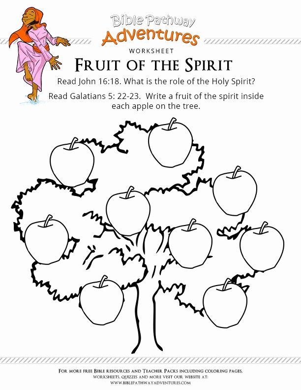 Fruits Of the Spirit Worksheet Luxury Free Bible Worksheet Fruit Of the Spirit