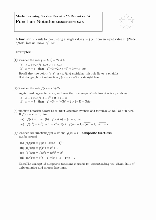 Function Notation Worksheet Answers Beautiful top 10 Functional Notation Worksheet Templates Free to