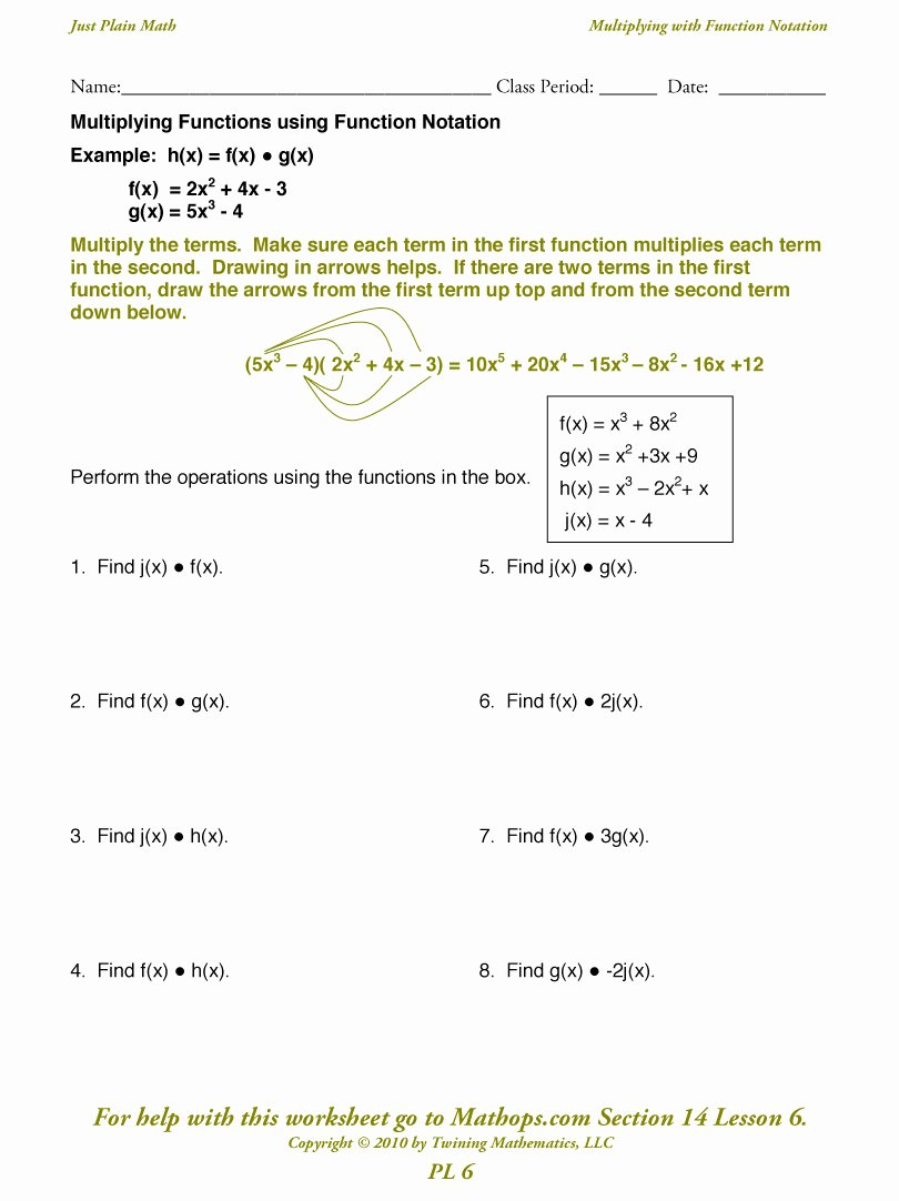 Function Notation Worksheet Answers Inspirational Function Notation Worksheet Answers