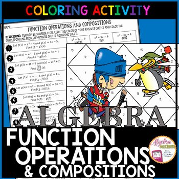 Function Operations and Composition Worksheet Lovely Function Operations and Positions Coloring Activity by