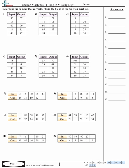 Function Tables Worksheet Pdf Lovely Patterns & Function Machine Worksheets