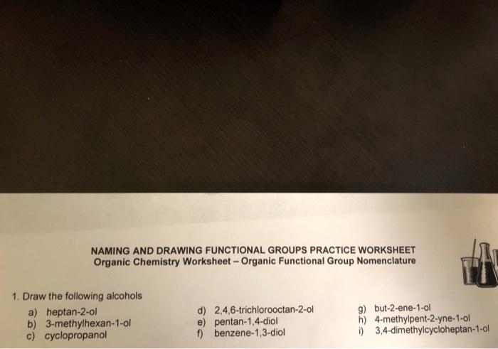 Functional Group Practice Worksheet Inspirational Functional Group Practice Worksheet