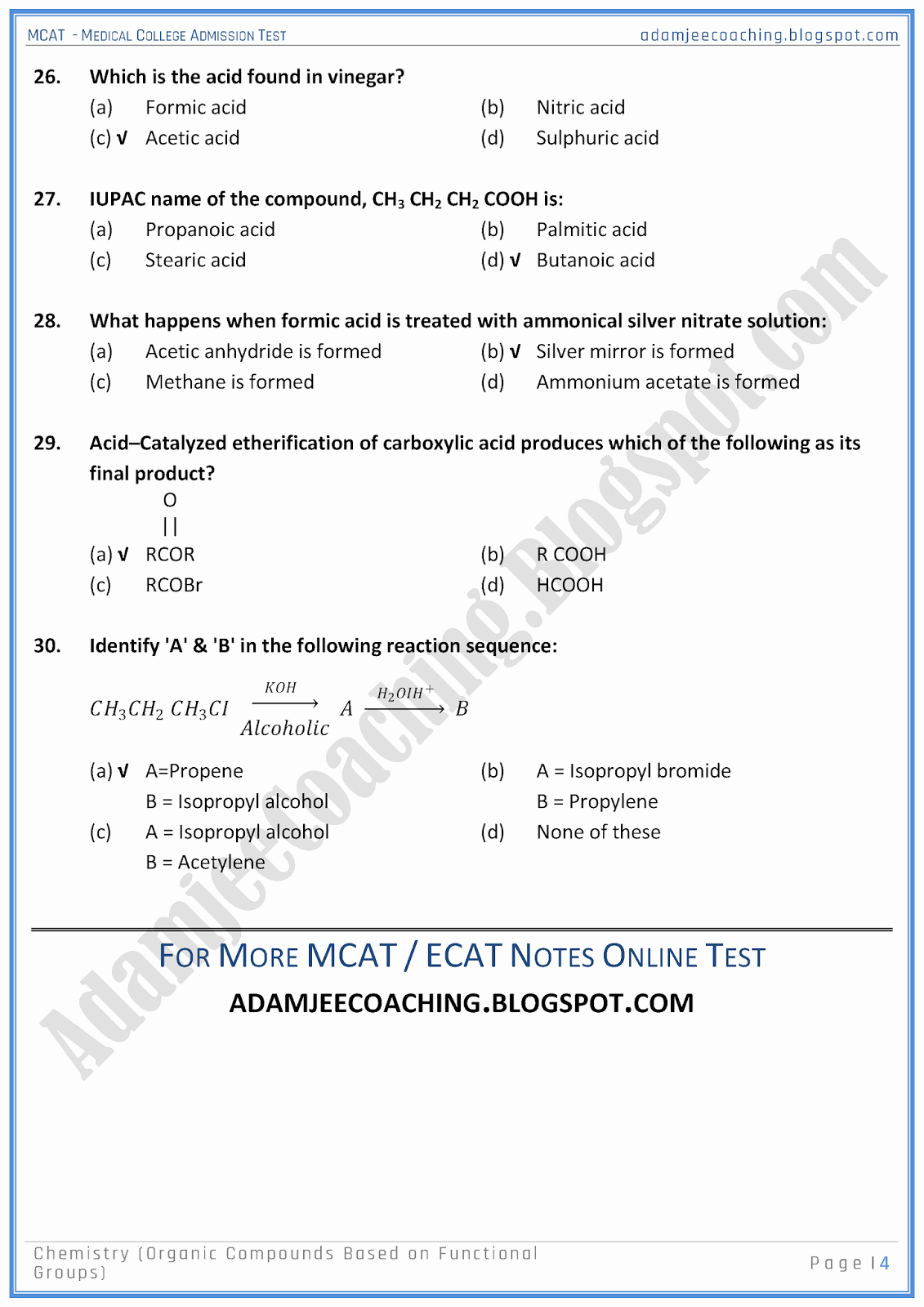 Functional Group Practice Worksheet Luxury Adamjee Coaching Mcat Chemistry [organic Pounds Based