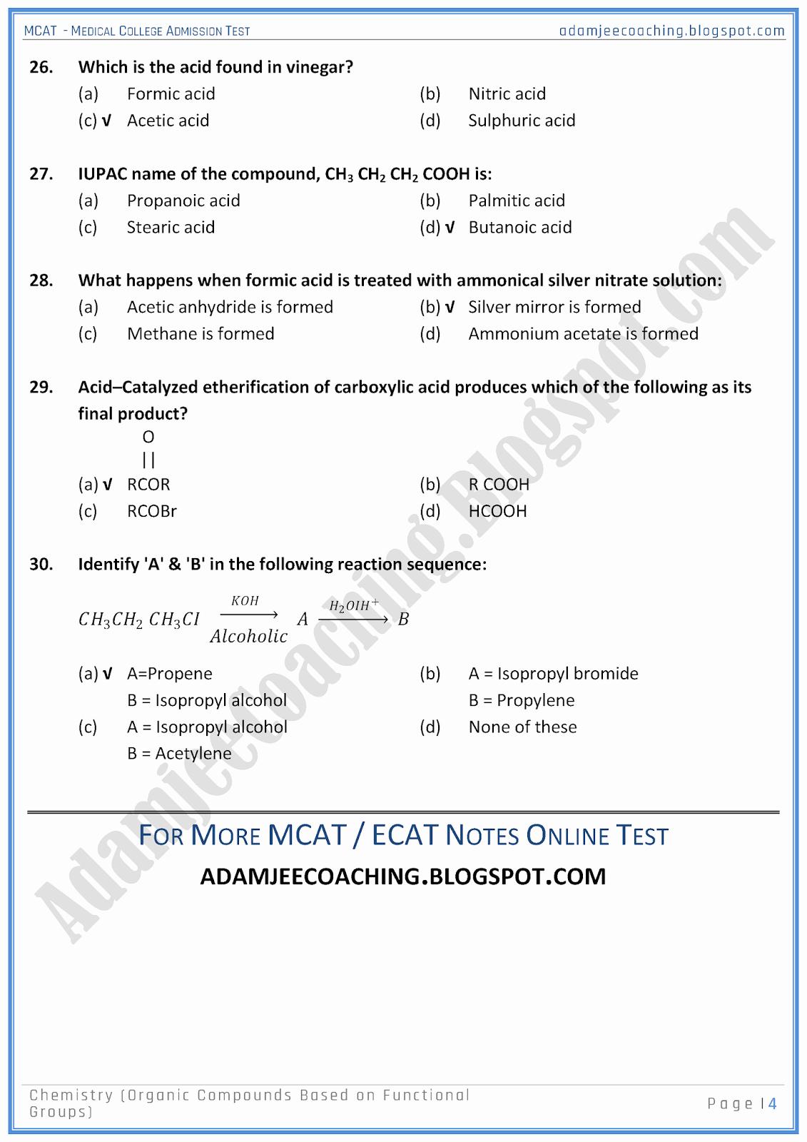 Functional Group Practice Worksheet Luxury Adamjee Coaching Mcat Chemistry [organic Pounds Based