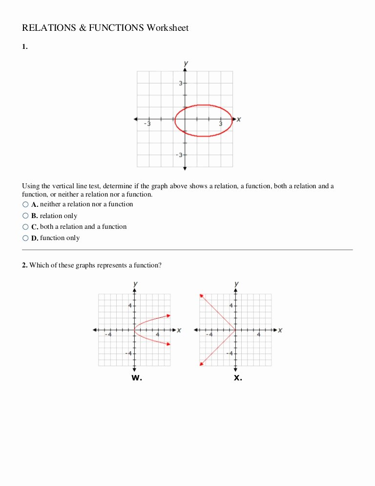 Functions and Relations Worksheet Inspirational Relations and Functions Worksheet