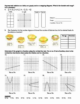 Functions and Relations Worksheet New Holt Algebra 4 2 Relations and Functions Worksheet Doc