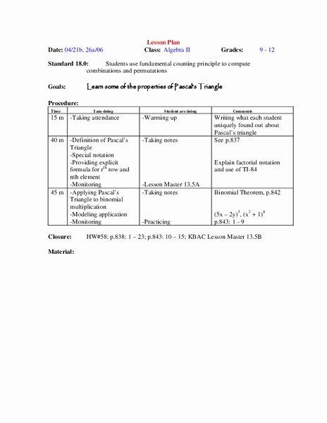 Fundamental Counting Principle Worksheet Inspirational Fundamental Counting Principle Lesson Plans & Worksheets