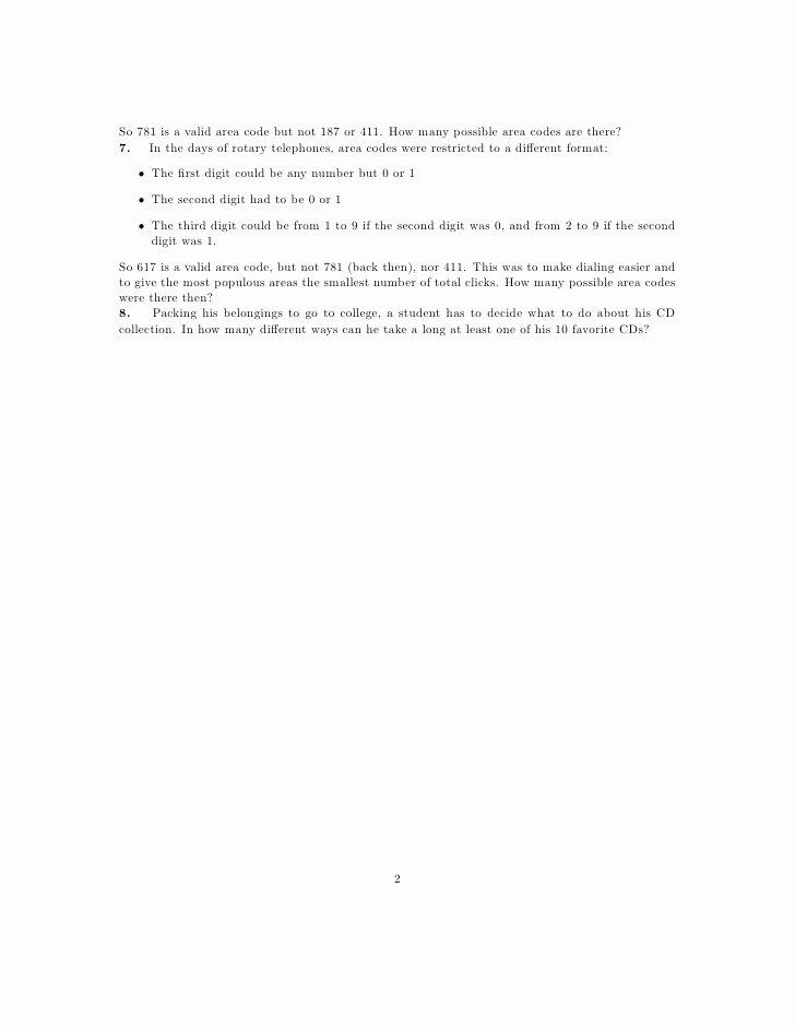 Fundamental Counting Principle Worksheet New Worksheet the Basic Principle Of Counting