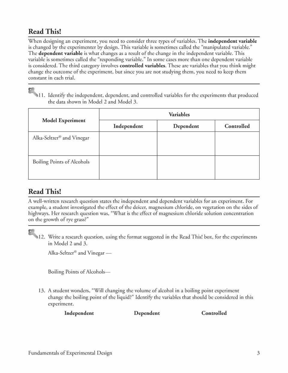 Gas Variables Worksheet Answers New Identifying Independent and Dependent Variables Worksheet