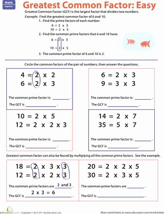 Gcf and Lcm Worksheet Awesome Factors Greatest Mon Factors and Worksheets On Pinterest