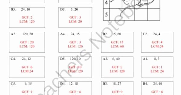 Gcf and Lcm Worksheet Awesome Gcf and Lcm Puzzle Activity Worksheet 18 Problems From