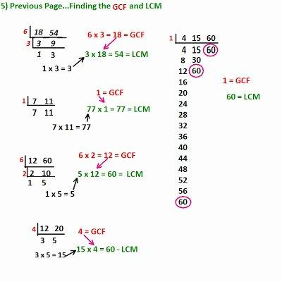 Gcf and Lcm Worksheet Unique Cobb Adult Ed Math Fraction Basics and Addition