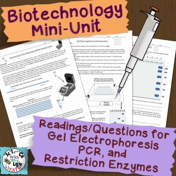 Gel Electrophoresis Worksheet Answers Awesome Biotechnology Mini Unit Pcr Gel Electrophoresis and
