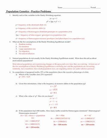 Genetics Practice Problems Worksheet Answers Fresh Genetics Practice Problems Worksheet Answers Worksheets